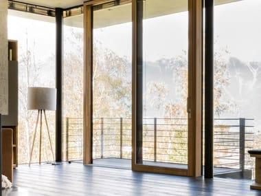 Aluminium and wood patio door I-TEC CORE
