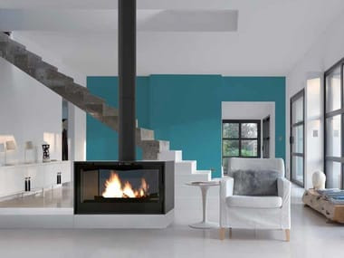 Wood-burning Central stove I1000PDF - DOUBLE FACE