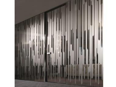 Hinged mirrored glass door IANUS | Mirrored glass door