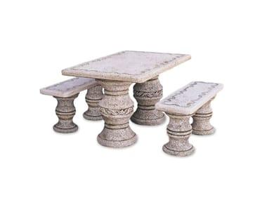 Seduta e tavolo in pietra ricostrutita IBIZA