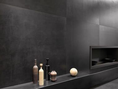 Porcelain stoneware wall/floor tiles with stone effect ICÔNE BLEU Noir