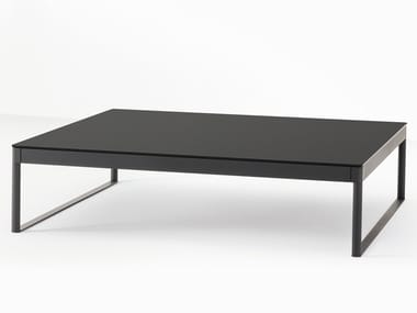 Low steel coffee table with storage space ICARO 015 | Coffee table