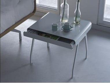 Rectangular aluminium bedside table with drawers ICARRARO - TELEMARK
