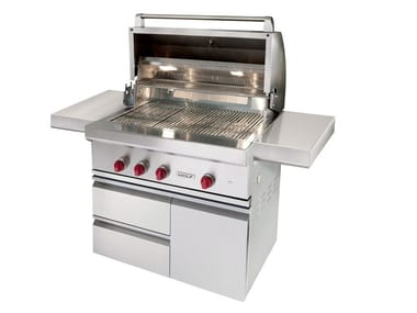 Gas stainless steel barbecue ICBOG36-CART36 | Barbecue