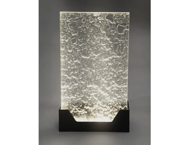Glass wall light ICE BLOCKS