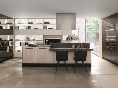 Lacquered laminate kitchen with island ICE | Kitchen with island