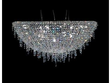 Lampada a sospensione alogena in cristallo ICEBERG | Lampada a sospensione in cristallo