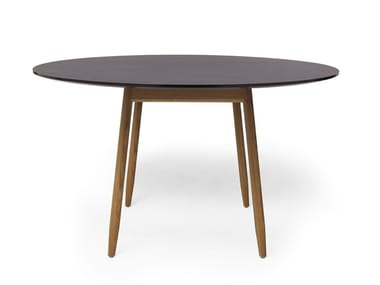 Round dining/conference table with desktop linoleum ICHA | Round table