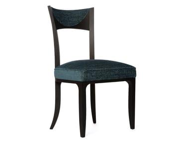 Sedia in frassino con cuscino integrato e schienale aperto ICO