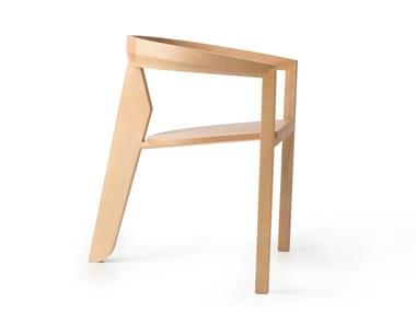 Silla de madera con brazos ICON   Silla