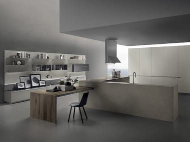 Porcelain stoneware kitchen without handles ICON | Porcelain stoneware kitchen