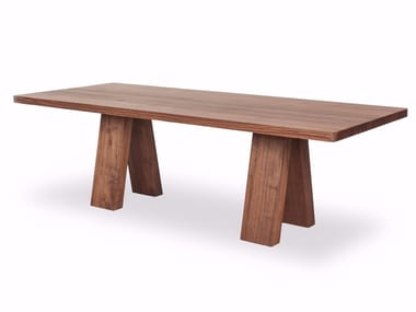 Rectangular solid wood table ICON