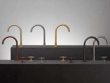 Gruppo lavabo a 3 fori da appoggio e a parete ICONA CLASSIC   Rubinetto per lavabo