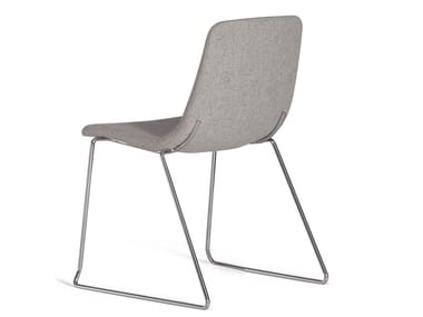 Sled base stackable fabric chair ICS 505PTN
