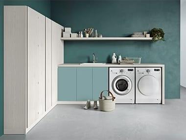 Mobile lavanderia componibile con asse da stiro IDROBOX COMP. 9
