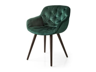 Tufted velvet chair IGLOO SOFT