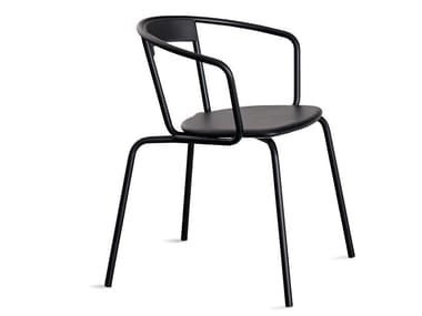 Steel chair with armrests IKE | Chair