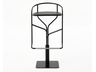 Swivel steel stool with footrest IKE | Stool