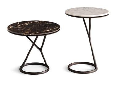 Tavolino rotondo in marmo ILDA