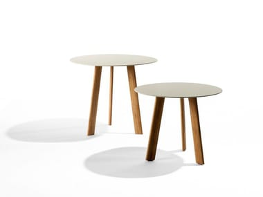 Round garden side table ILE