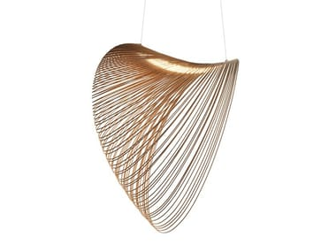 LED multi-layer wood pendant lamp ILLAN
