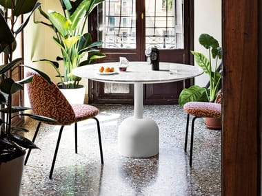 Round natural stone table ILLO DINING | Table