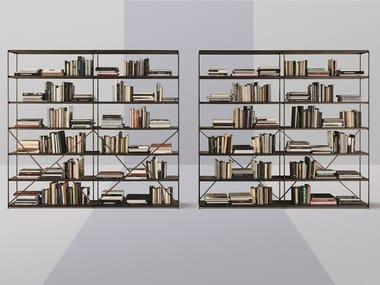 Open metal shelving unit IMAGE