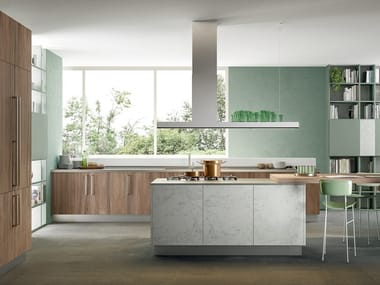 Fitted kitchen with island IMMAGINA PLUS BRIDGE 1