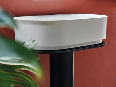 Freestanding Cristalplant® washbasin IMMERSION | Freestanding washbasin