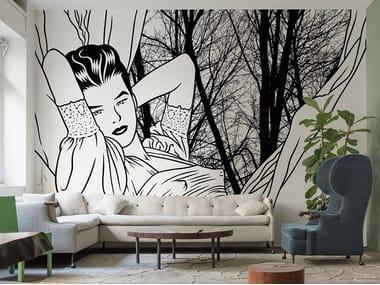 Papel de parede pop art de tecido não tecido IMPERATRICE