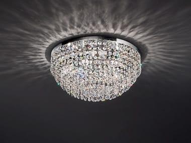 Lampada da soffitto incandescente in metallo con cristalli IMPERO & DECO VE 836