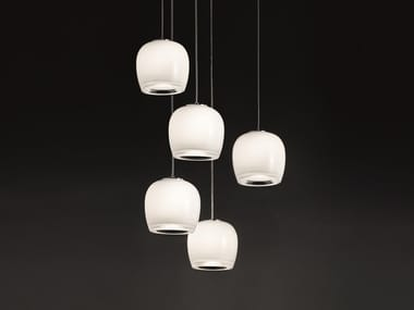 Glass pendant lamp IMPLODE SP 16