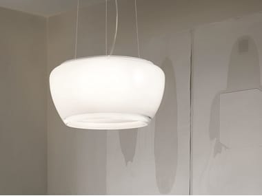 Glass pendant lamp IMPLODE SP 50
