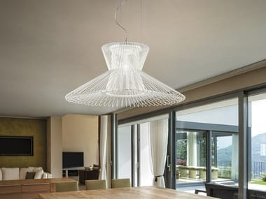 Adjustable painted metal pendant lamp IMPOSSIBLE B | Pendant lamp