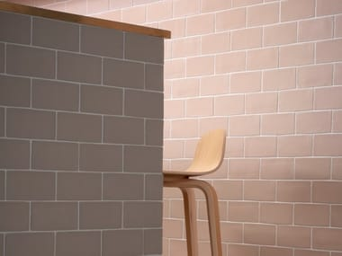 Glazed stoneware wall tiles IMPRINT