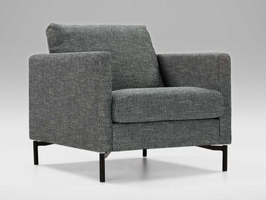 Fabric armchair with armrests IMPULSE | Armchair