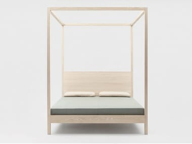 Solid wood double bed IN HEAVEN | Canopy bed