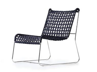 Petit fauteuil luge de jardin en corde IN-OUT | Petit fauteuil
