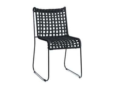 Sled base rope garden chair IN-OUT | Chair
