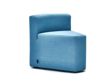 Cadeira lounge de tecido para jardim com estojo removível IN&OUT | Cadeira lounge