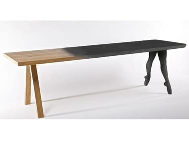 Rectangular oak table IN PUNTA DI PIEDI
