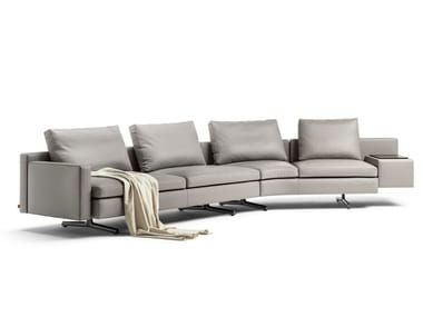 Curved 4 seater leather sofa IN THE MOOD | Curved sofa