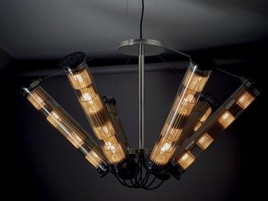 Lampada a sospensione a LED in vetro IN THE TUBE SOLAR 6