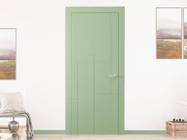 Puerta batiente lacada de madera con bisagras ocultas INCISE BP 1047