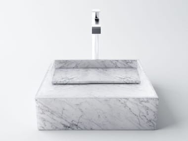 Countertop single Carrara marble washbasin INCLINIO | Carrara marble washbasin