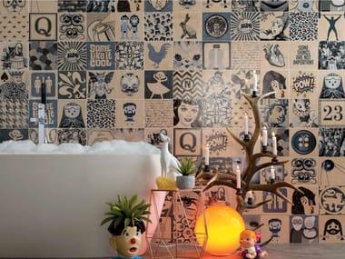 Glazed stoneware wall tiles INDIGO