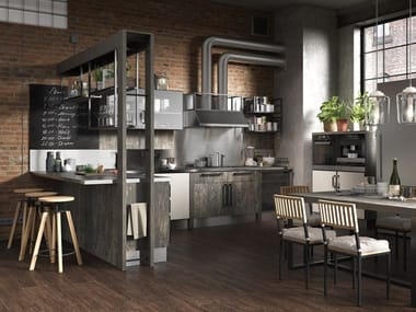 Built-in kitchen with peninsula INDUSTRIAL