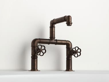 Countertop bridge mixer INDUSTRIALIS | Washbasin tap