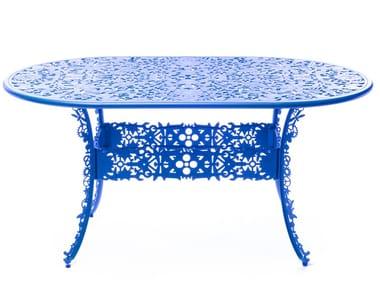 Oval aluminium garden table INDUSTRY | Oval table