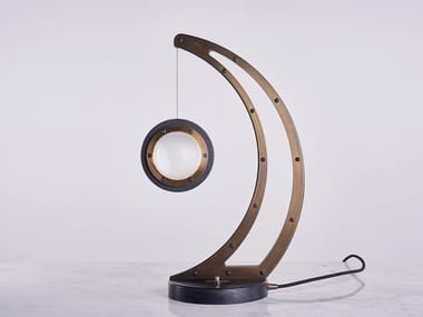 LED indirect light brass table lamp INFINITY 1519 | Table lamp
